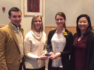 THE SHENANDOAH CHAPTER OF AFP RECOGNIZED THE jmu PHYSICIAN aSSISTANT PROGRAM FOR THEIR WORK WITH THE fREE CLINIC BY AWARDING THEM THE YOUTH IN PHILANTHROPY FOR 2017.