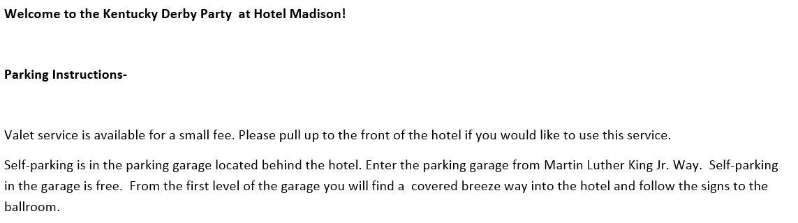 Hotel Madison parking.JPG