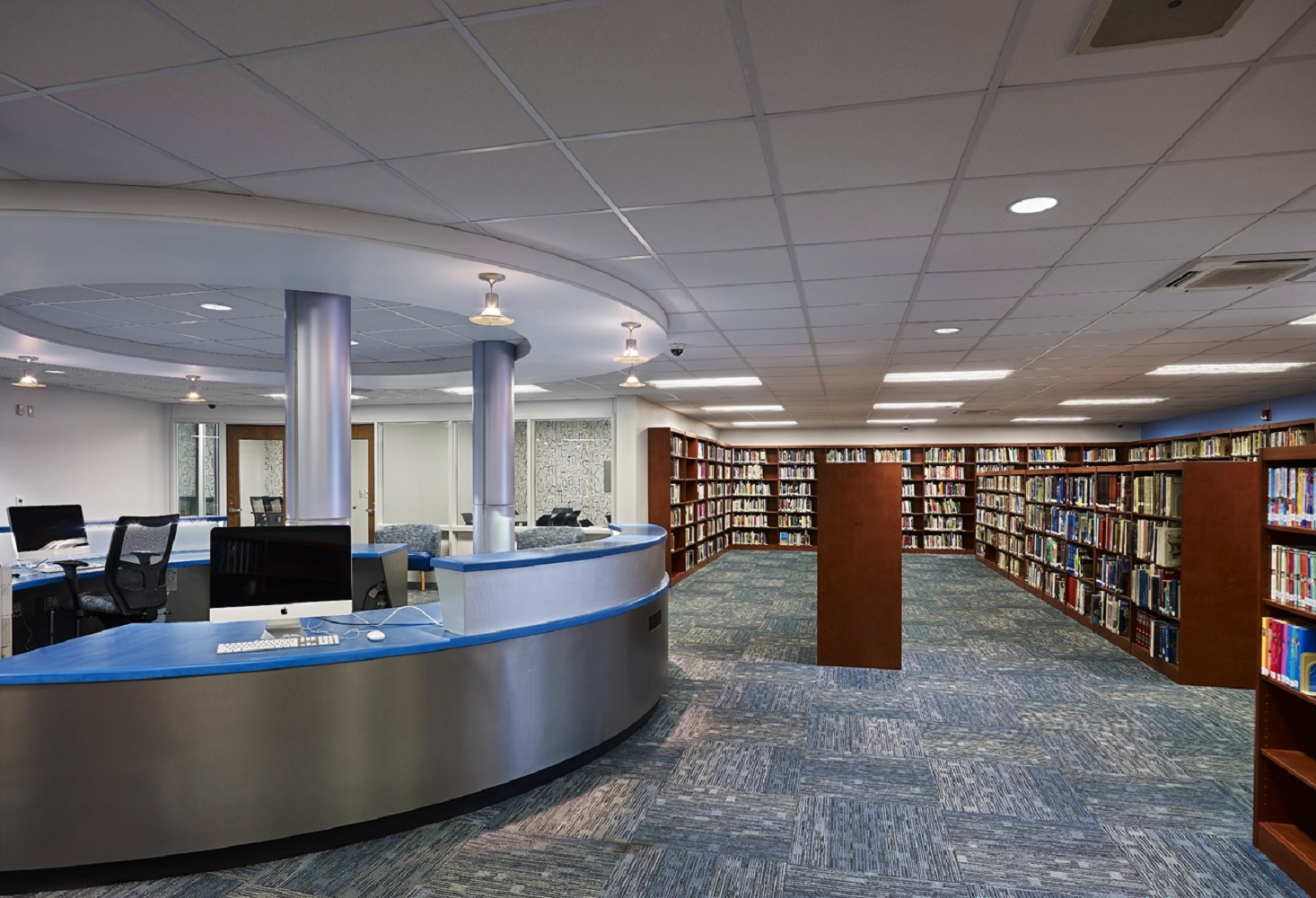Interior - Library Area + Center Desk.jpg