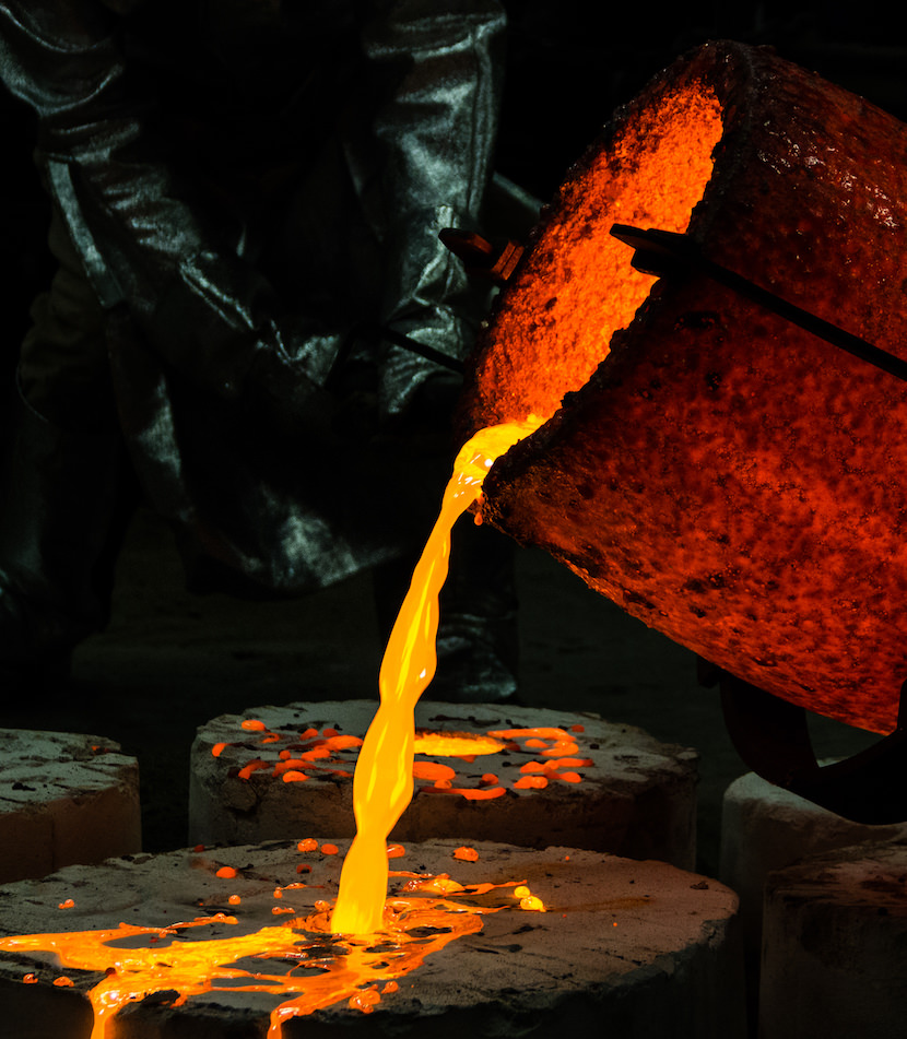 Alloying metal is the process of mixing metals and non-metals to achieve different desired properties in the metal being alloyed. Gold is typically alloyed to make it stronger and less expensive to the mass consumer.
