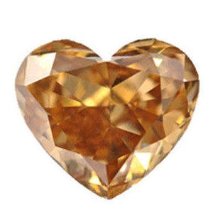 1.42ct Heart Shaped Diamond, Si2, Orangish/Brown - eBay