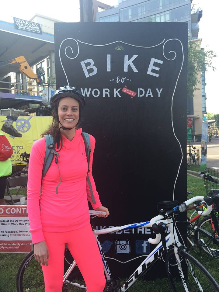 """Caitlin Magidson  - Post to our FB page:   I enjoyed the DMV's """"Bike to Work Day""""and felt energized being in nature (verses the metro!). The Capital Crescent Trail was lovely! To learn more about his annual event:  http://www.waba.org/aboutbiketoworkday/ .    Are you a bike commuter? Share your stories here as we encourage each other as earth stewards. Maybe you don't bike. What other ways are you reducing your commute impact: public transportation, electric or hybrid vehicles, car pooling, walking, work from home?"""