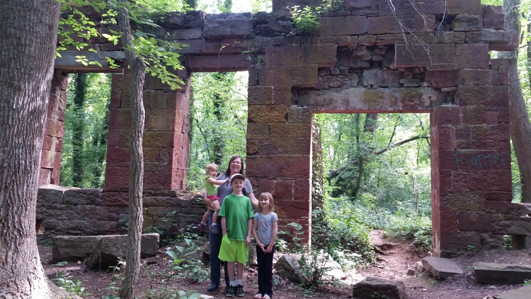 Ruins of Seneca Creeks' first mill circa 1732