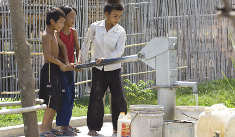 Photo and data: lds.org  Over 7.5 million people now have access to clean water because of LDS Church efforts from 2002 - 2010.