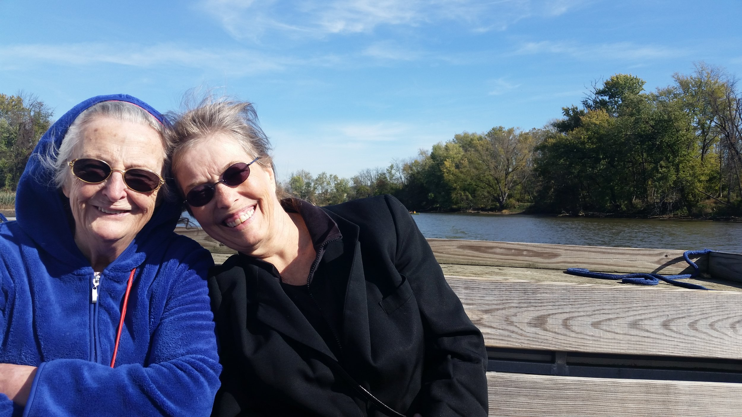 Ida Mayer and Vicky Clark at the Anacostia River tour with Earth Stewardship East, 2016.