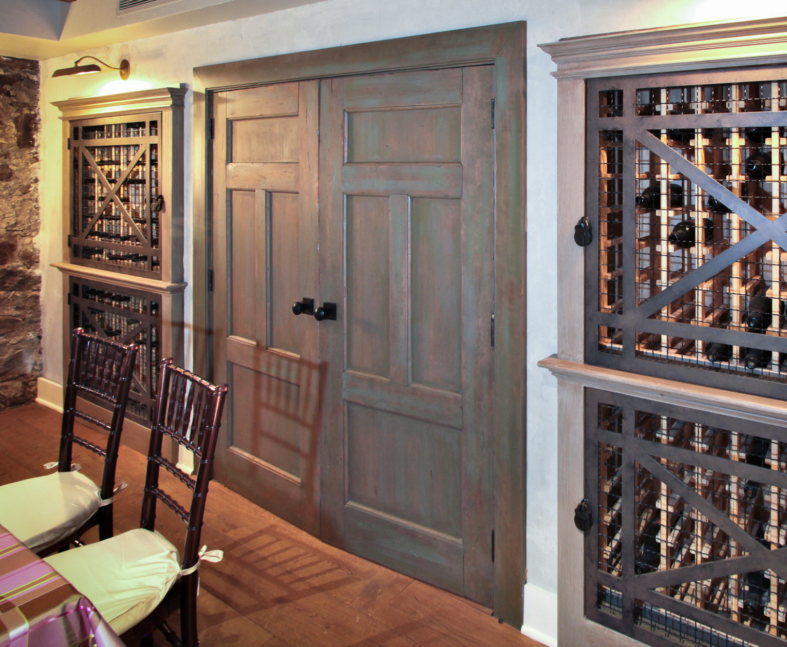 Faux Finish on Wine Vault
