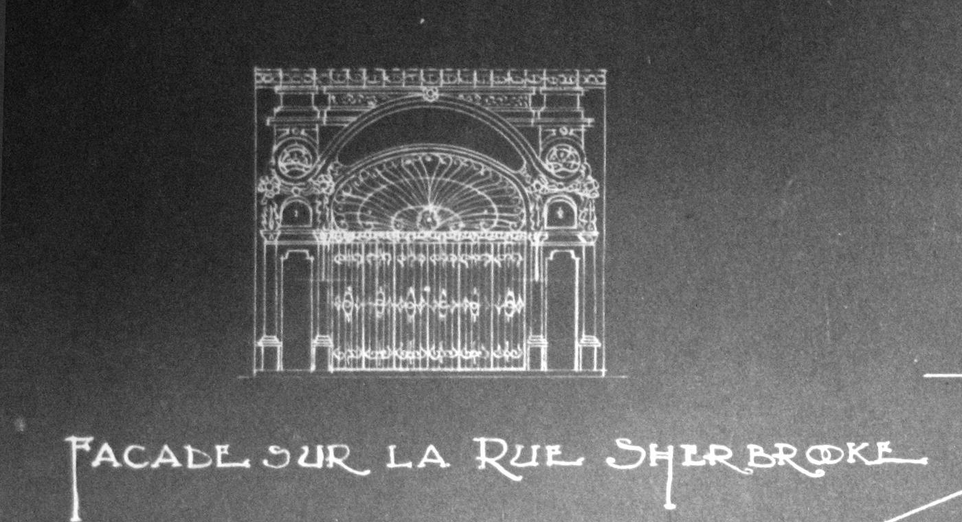 Façade originale de 1914. Archive : Centre Canadien d'Architecture.