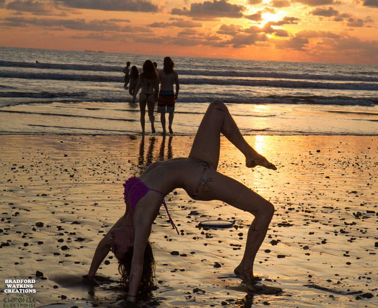 Back bends on the beach! Photo by Bradford Watkins Creations
