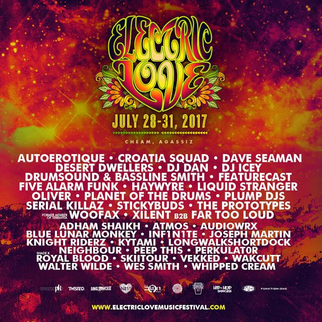 You can check out the full line-up at  www.electriclovemusicfestival.com