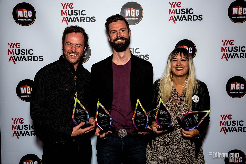 Miesha & The Spanks alongside T. Buckley and their collective awards