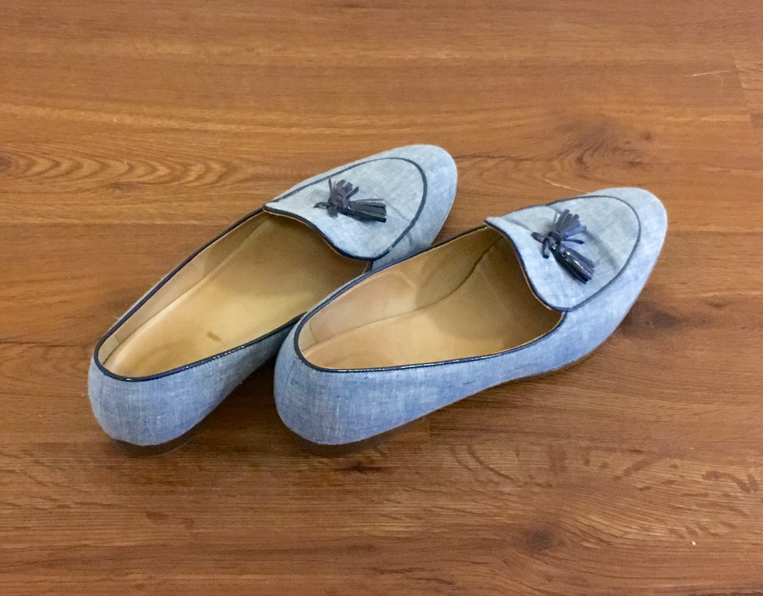 Jcrew loafers that I usually pair with white shorts and a blue blouse