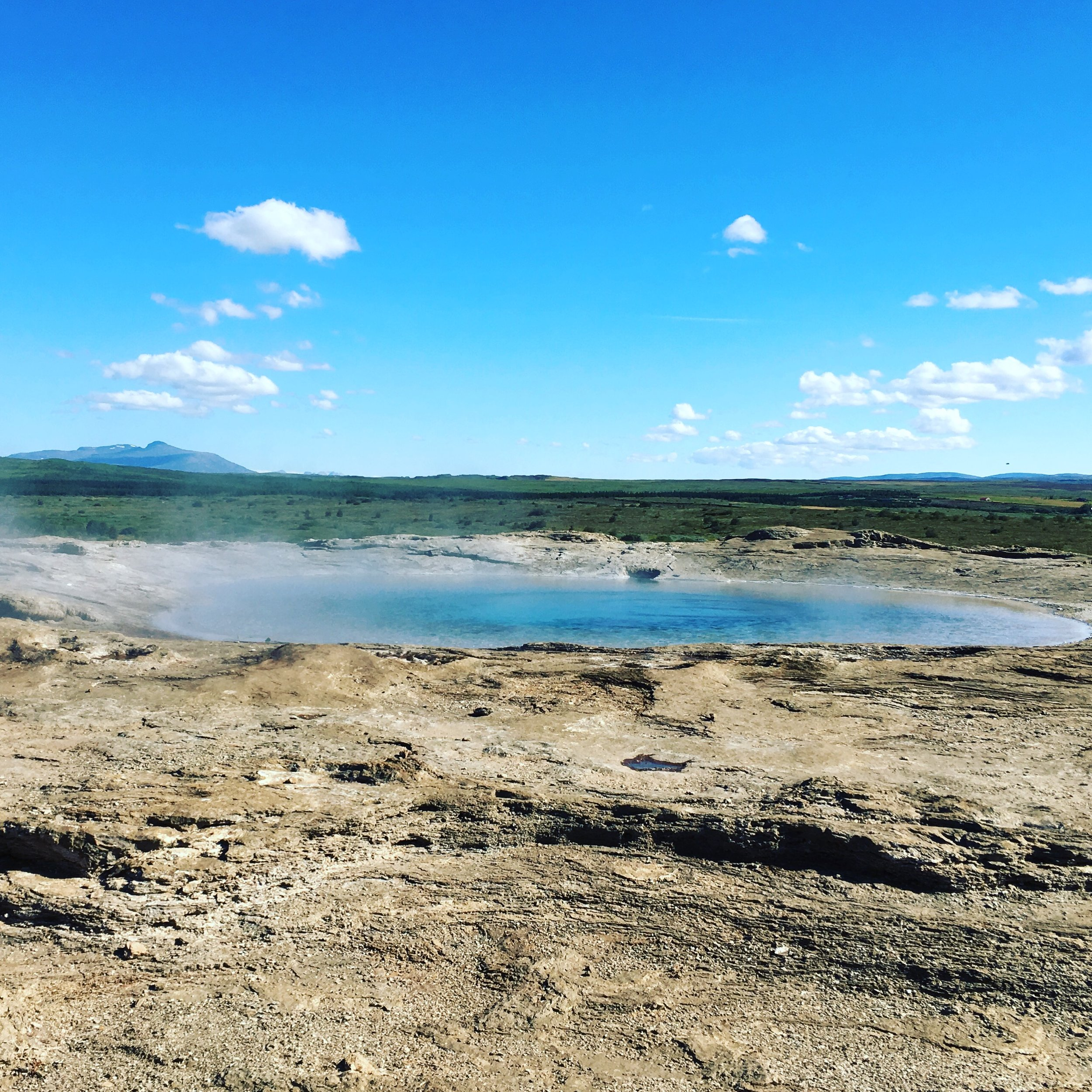 At the Geysir hot springs