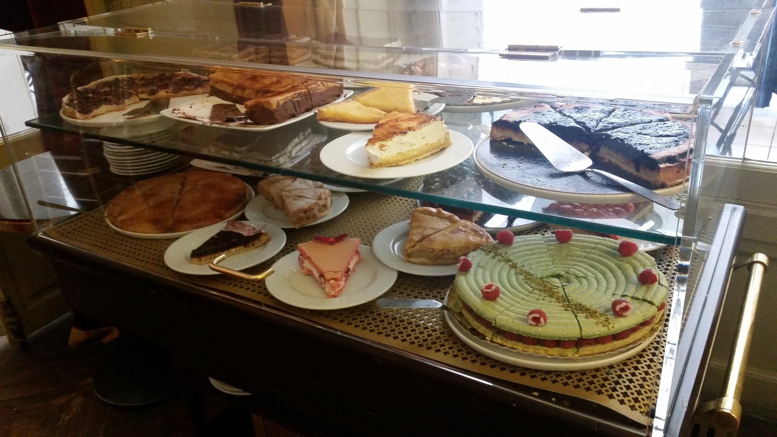 Dessert selection from the tearoom of the Musée Jacquemart-André