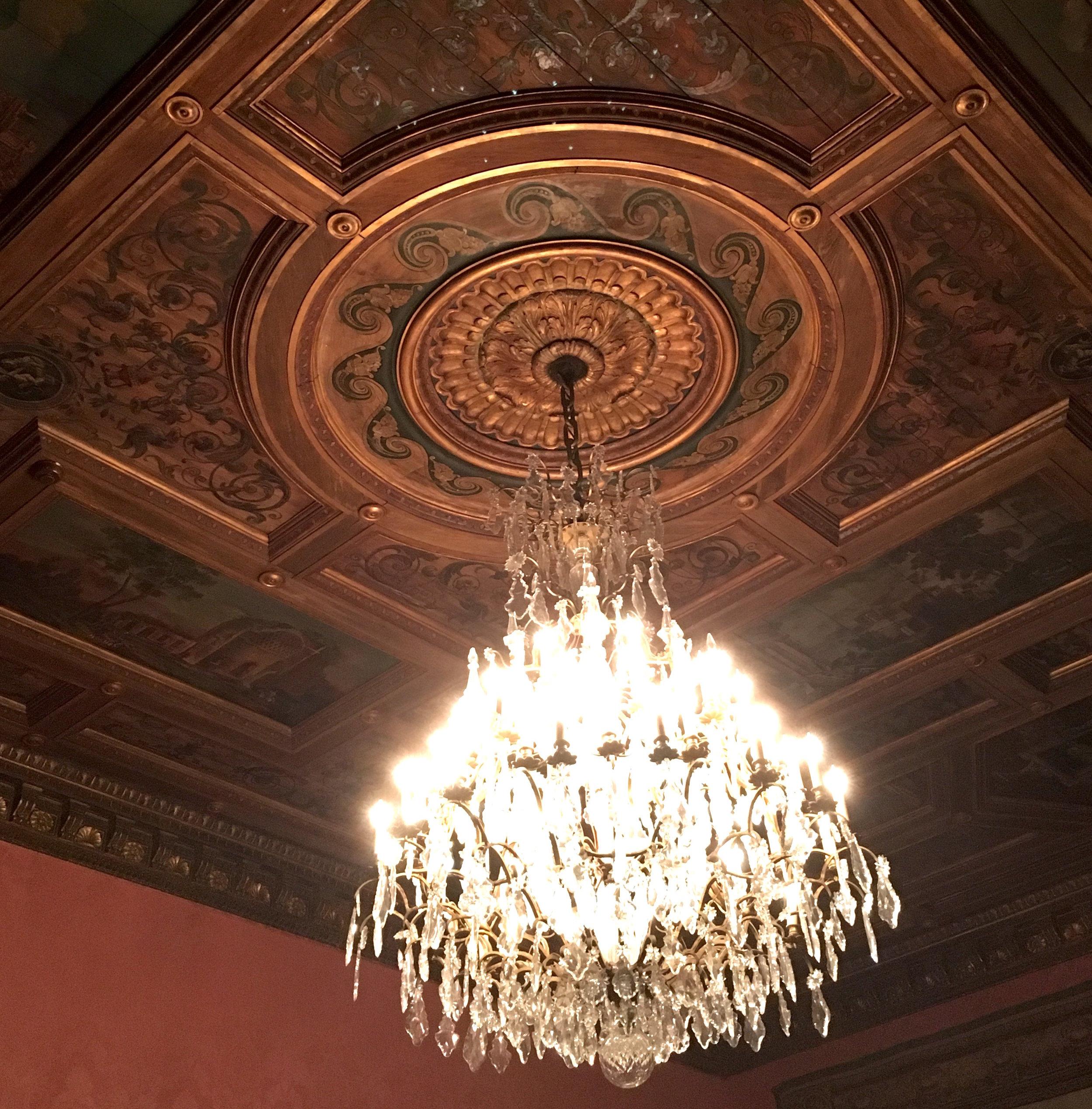 chandelier swinging was kept to a minimum