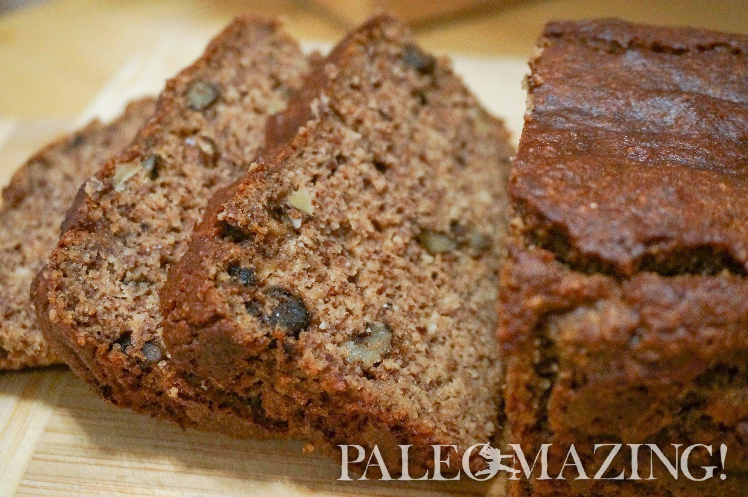 Moist Paleo banana bread - from Paleomazing.com