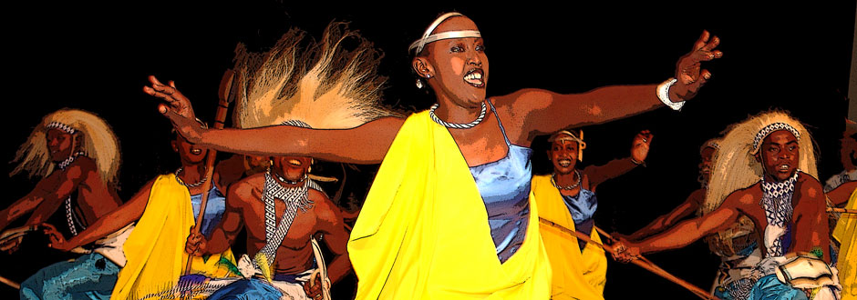 Music and dance are an integral part of Rwandan ceremonies, festivals, social gatherings, and storytelling