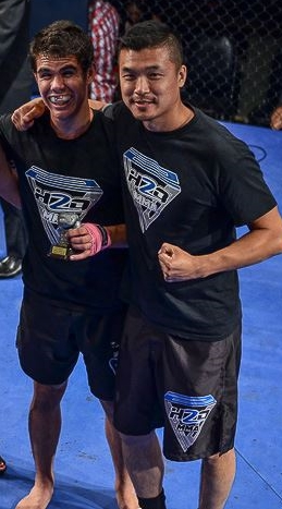 Victory with the great Richard Ho of H2O MMA in Montreal.