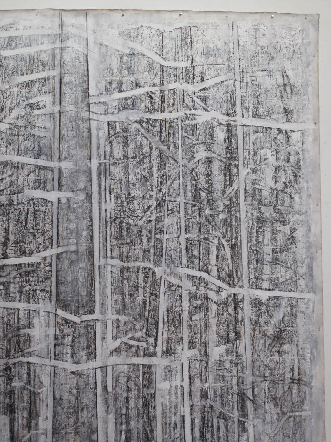 2af(1)-Detail of Whiteout, charcoal, gesso on unstretched canvas, 133 x 83 in..jpg