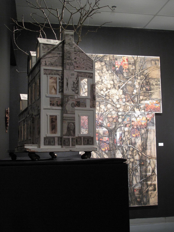 2am(2)-White House w Barren Fruit, Art Car Museum 2011.JPG