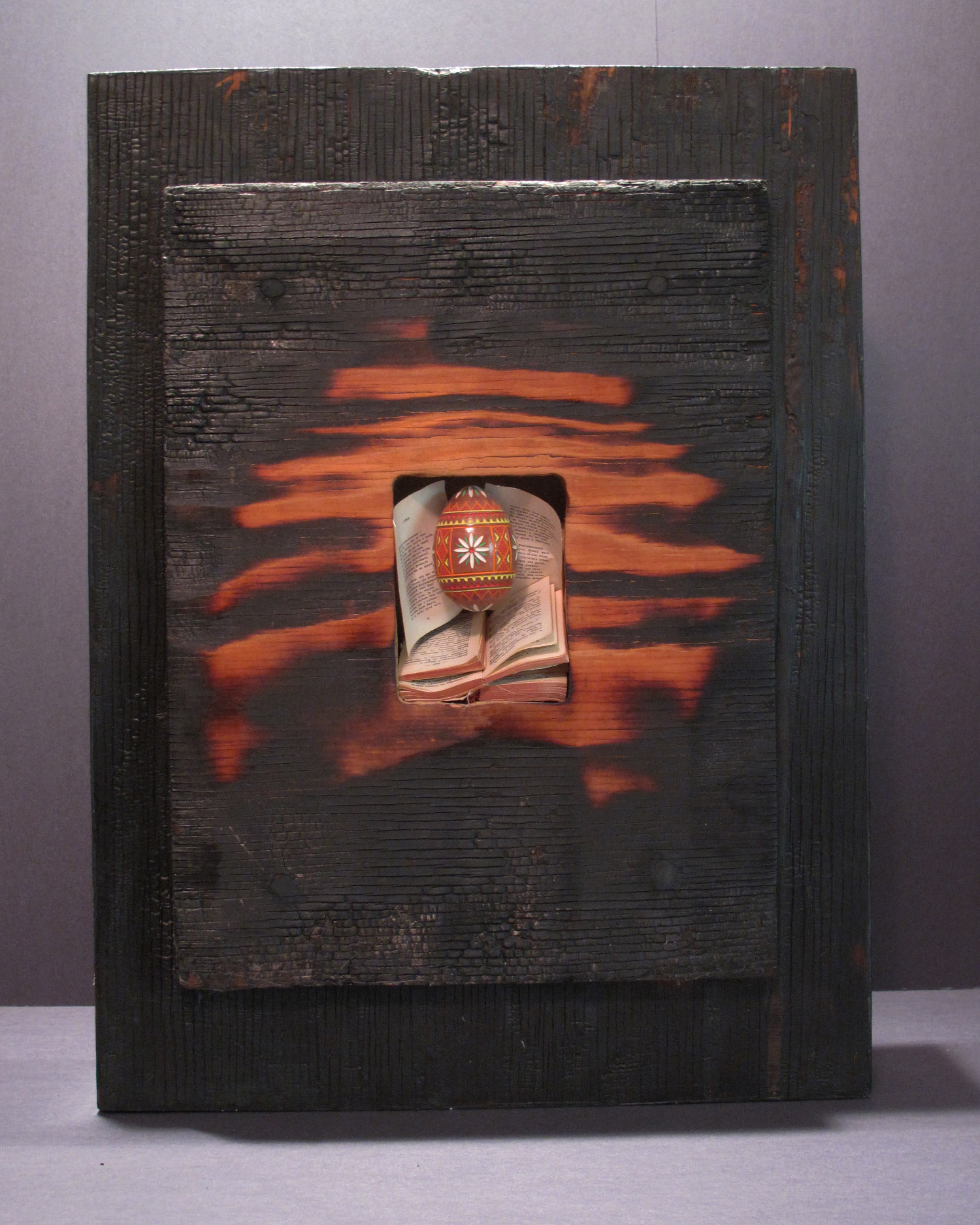 2bd(2) - Two-Faced back view, torched wood, mixed media, 20x14x4 in. 1995.jpg