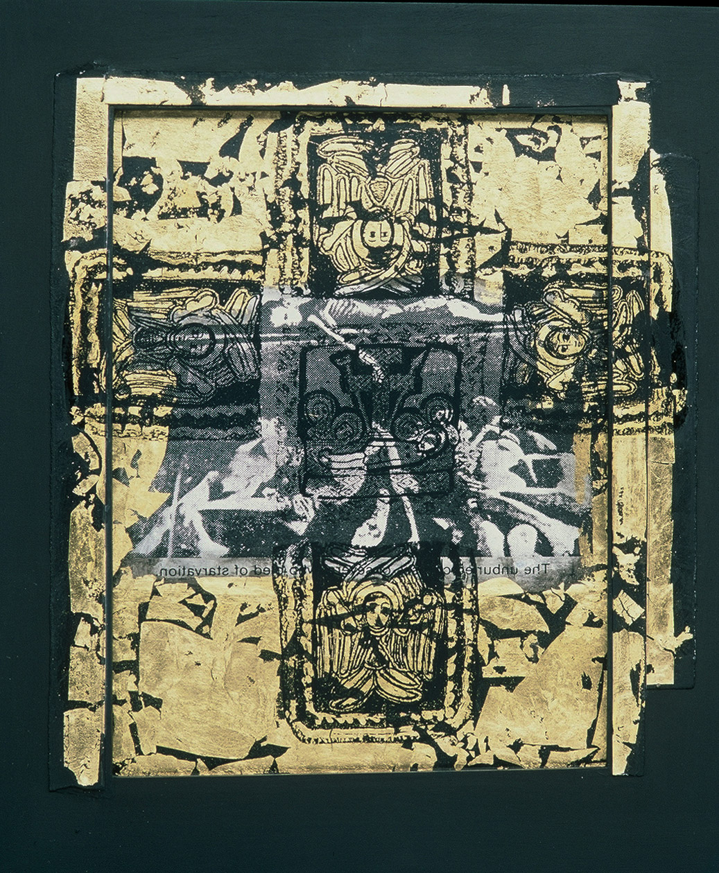 5aa(0) - Another Kind of Icon #15, gold leaf, photocopy, gesso, wood, 13x10 in. 1996.jpg