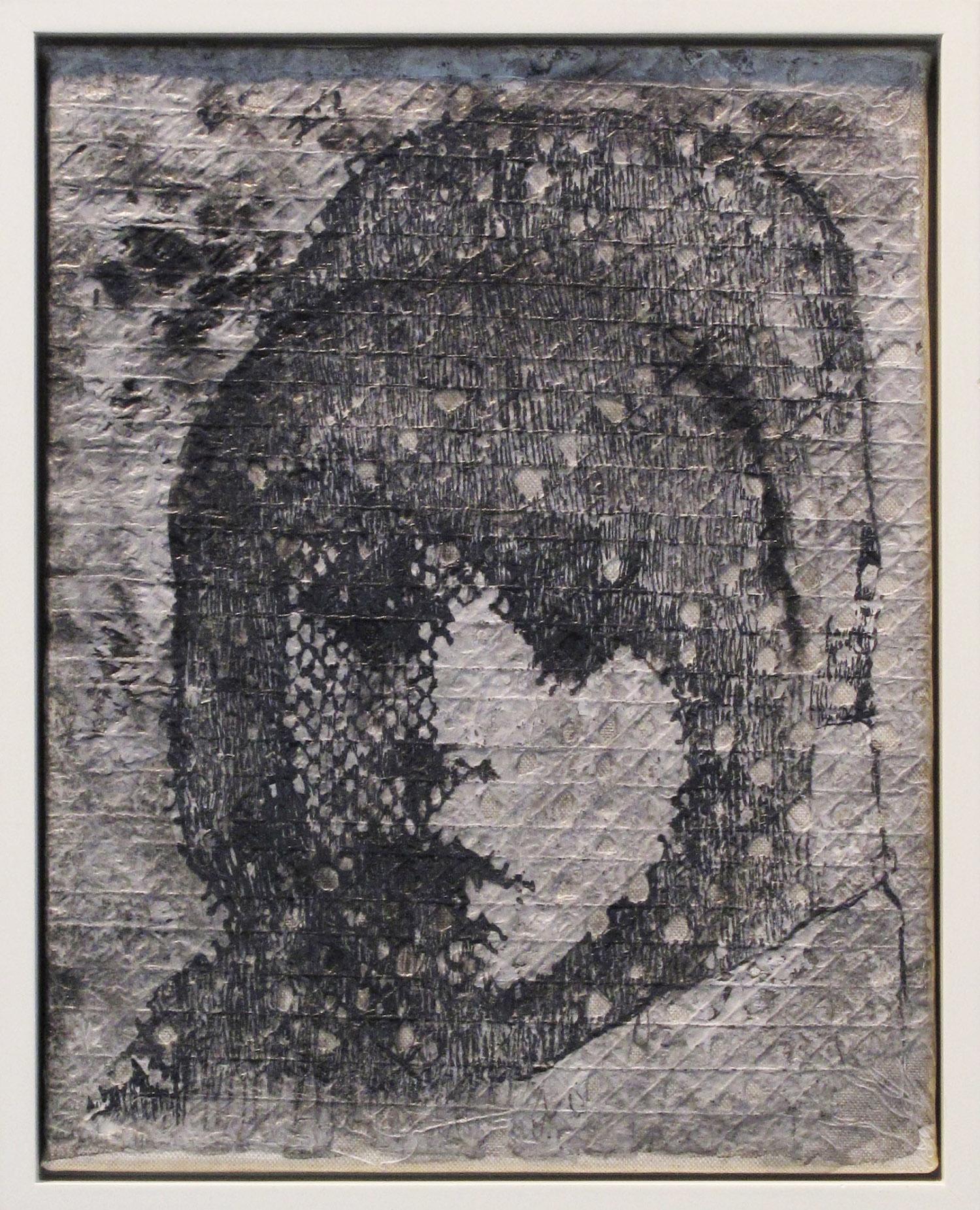5bj(0) - Shrouded Child -inks on handmade  paper over canvas, 14x11 in. , 2011.jpg