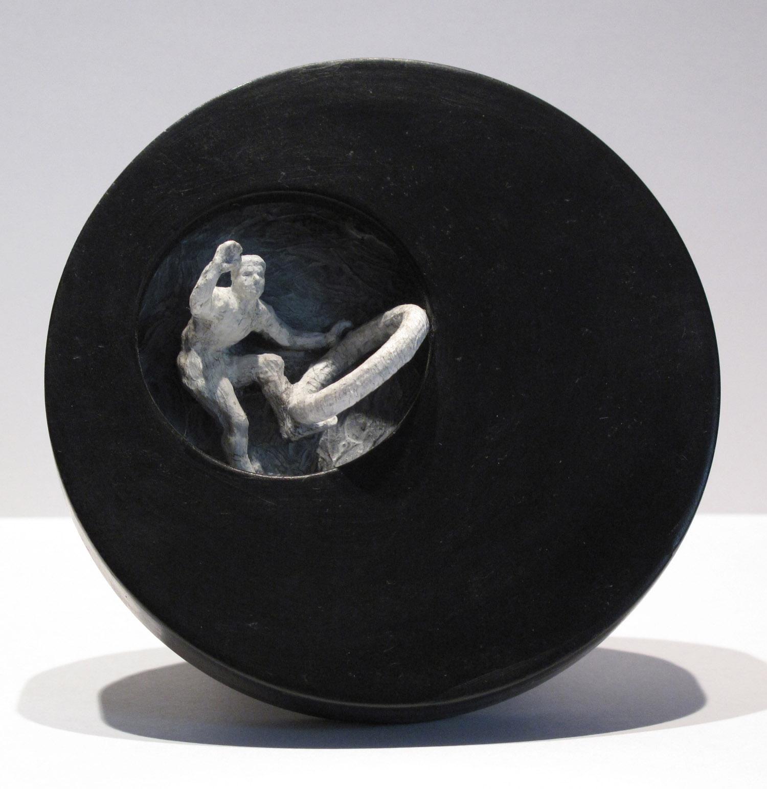 5ci(0) - Hoop-Hop, plaster, gesso, wood, 4 in diameter, 2005.jpg