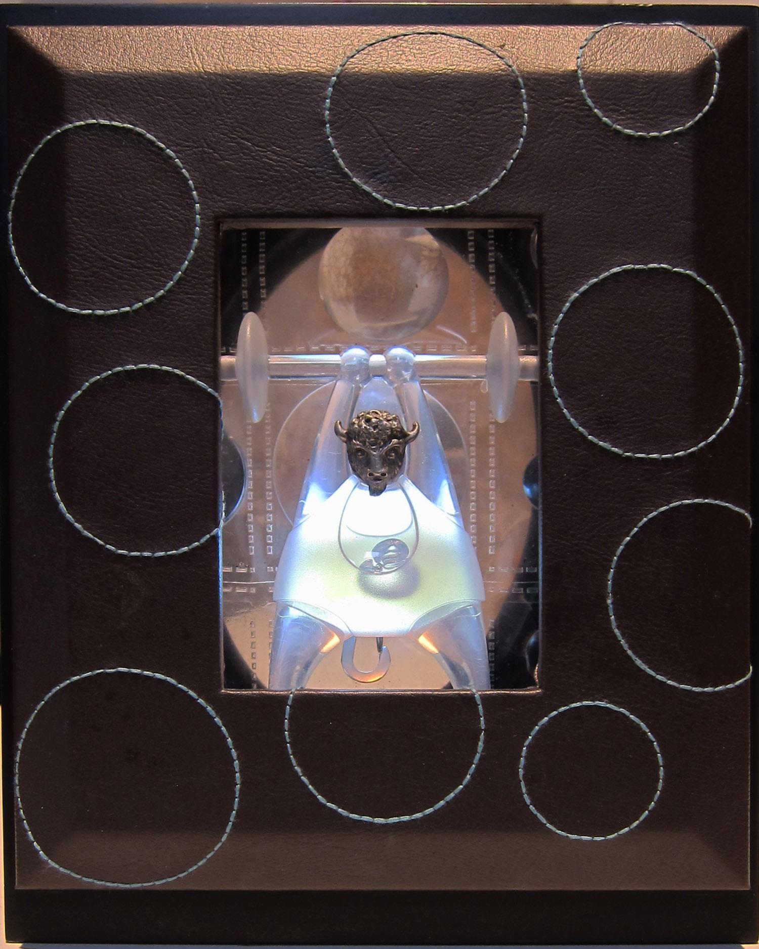 5cj(0) - Mister Bubbles, acrylic, light, metal, wood, 9x7x3 in.,  2010.jpg