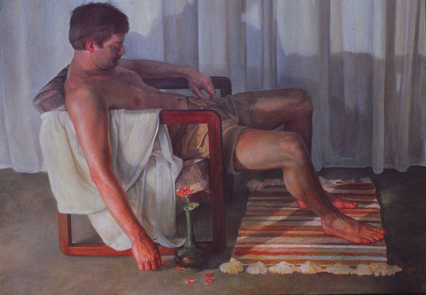 5dm - The Death of Machismo- oil on canvas, 50x72 in., 1985.jpg