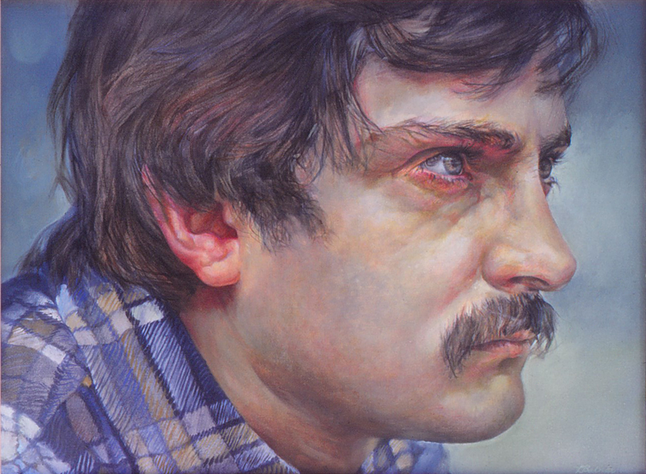 5dn - Study of M. Without Glasses - oil on canvas, 21x28 in., 1982.jpg