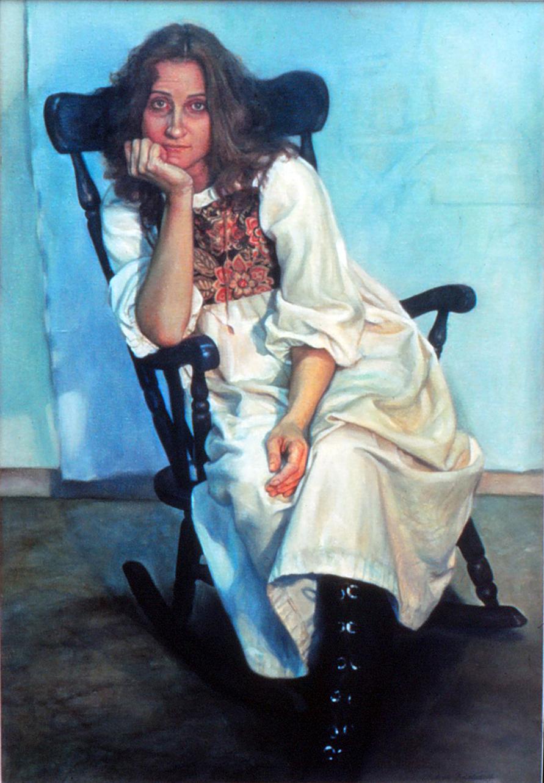 5do(0) -  Evie, The  Romantic - oil on canvas, 49x33 in., 1983.jpg