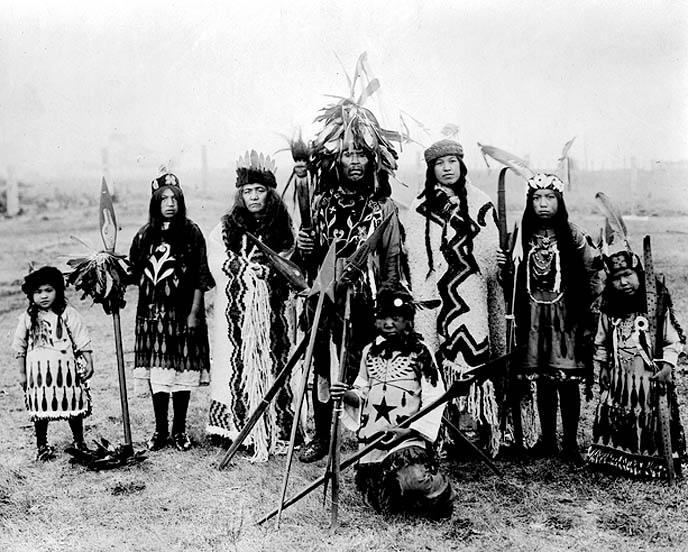 Lummi Indians around the turn of the last century