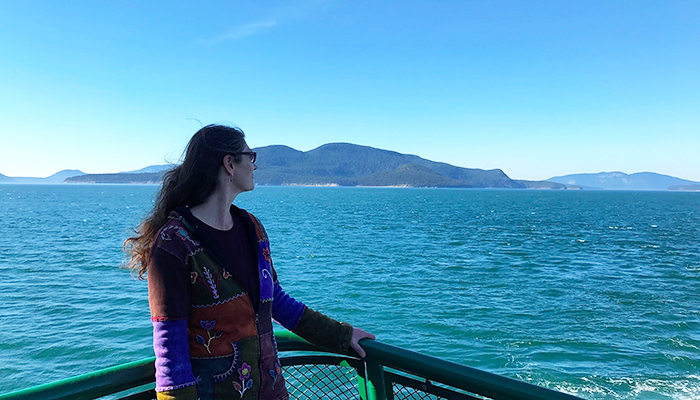 Looking out from the Ferry
