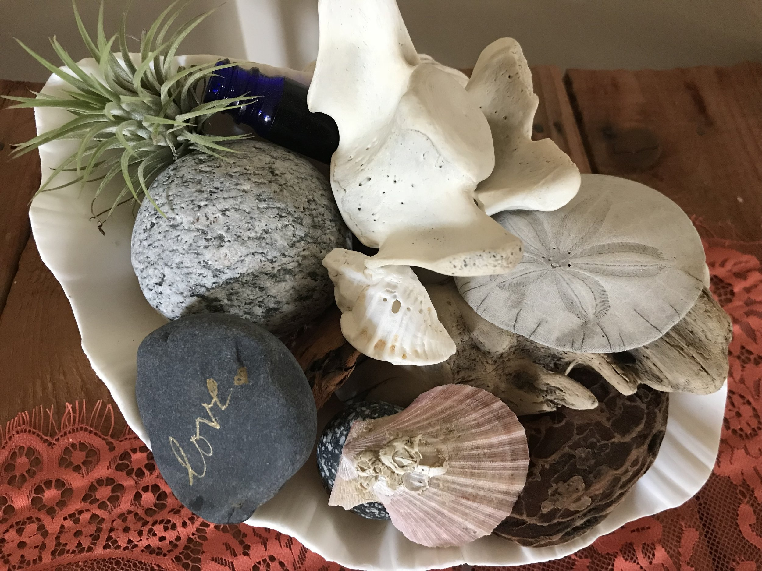 Display your beach treasures at home to remember your island getaway