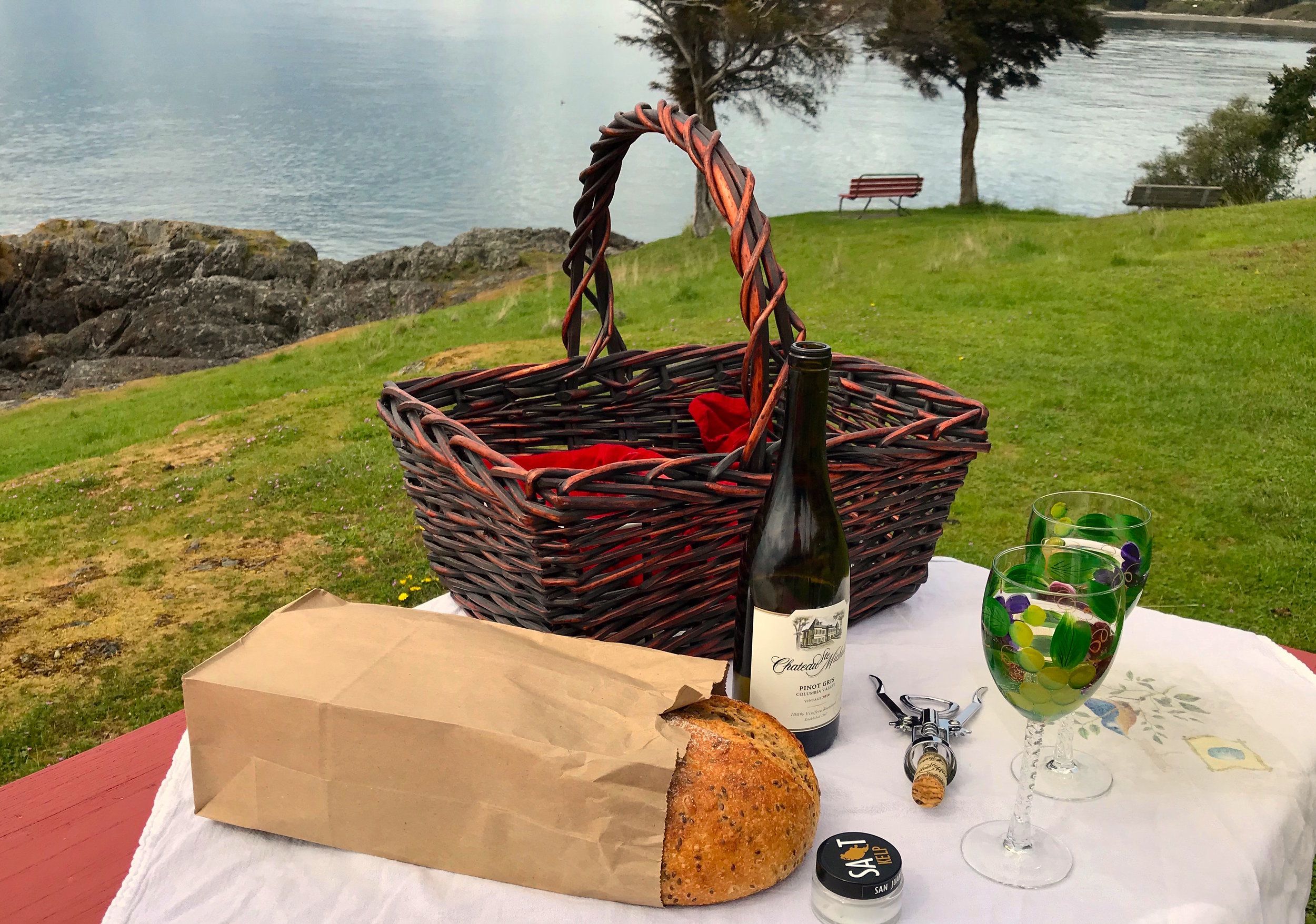 A picnic overlooking the Salish Sea is a lot more fun than going out