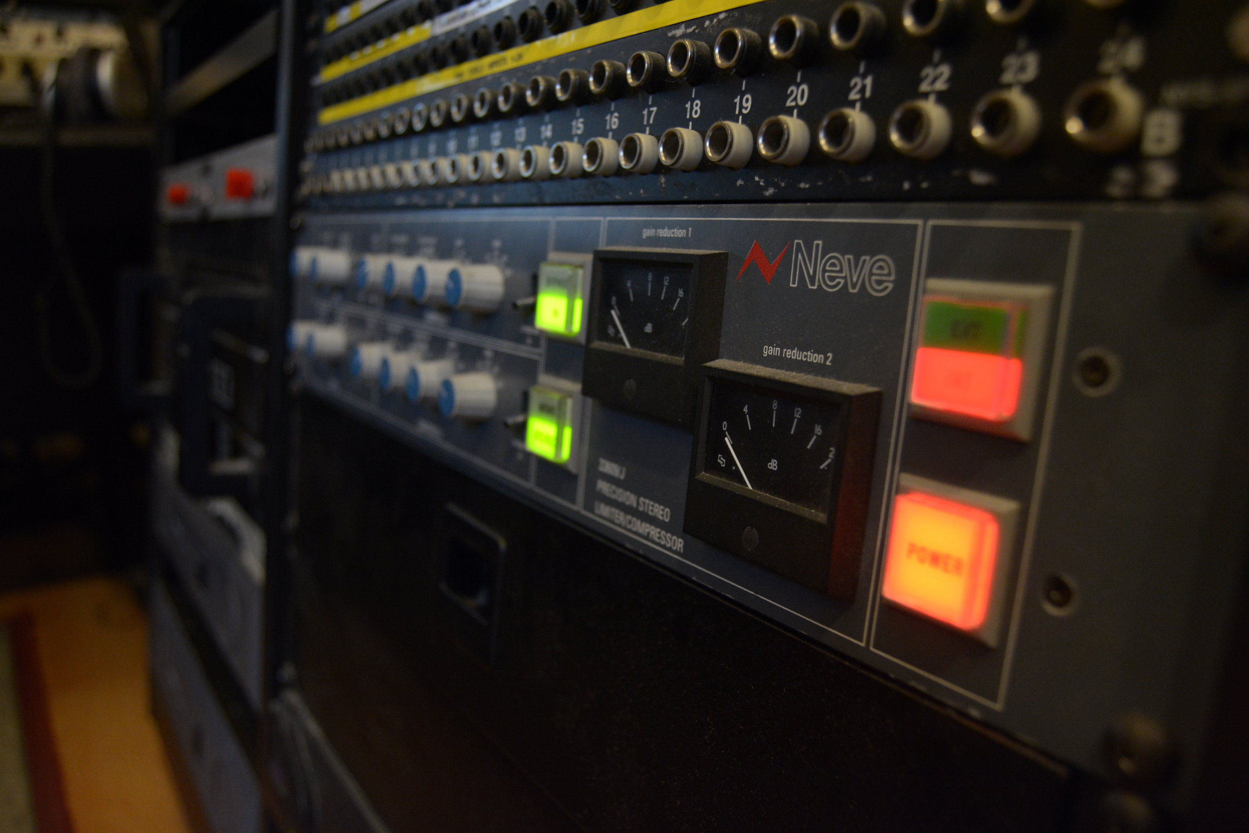 Our Neve 33609 Compressor in the rack