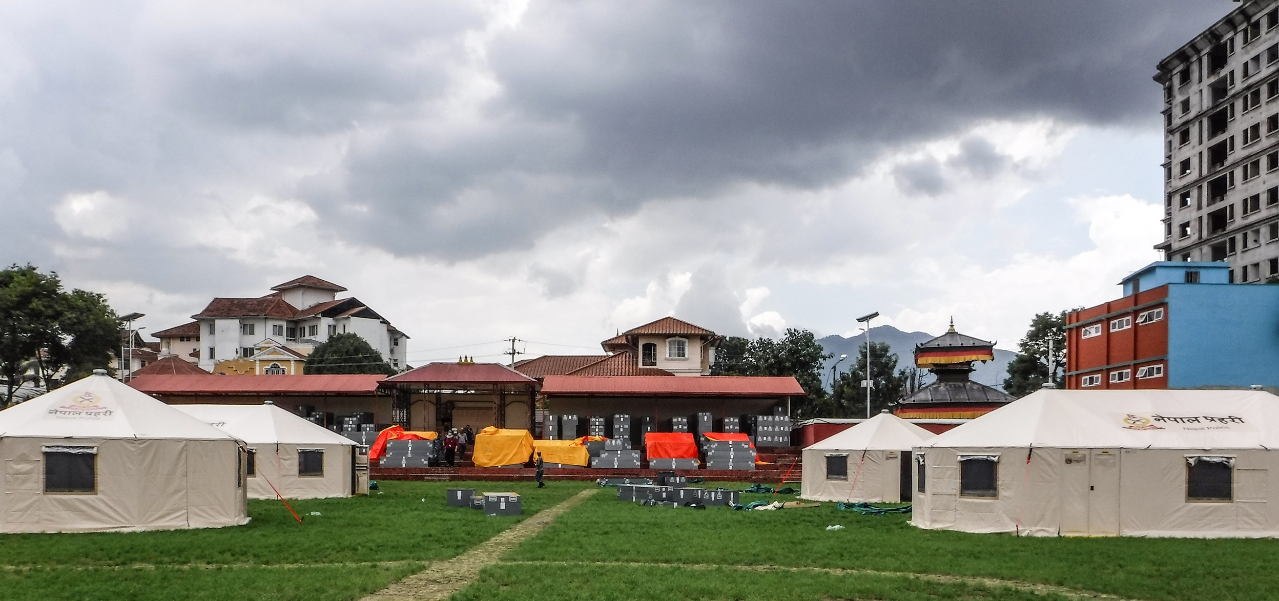 Western Shelters on the ground in Nepal.