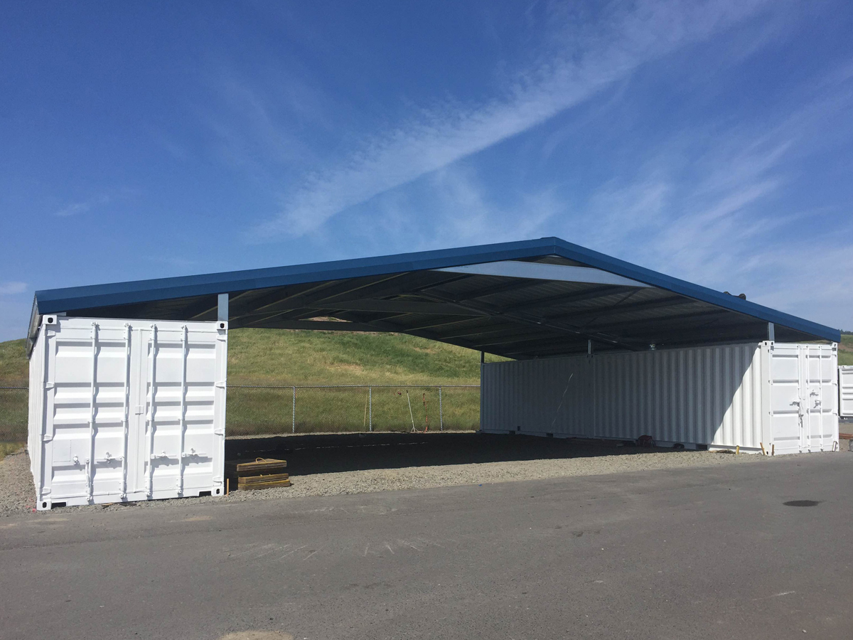 Western Shelter Container Shelter Roof Gable Style