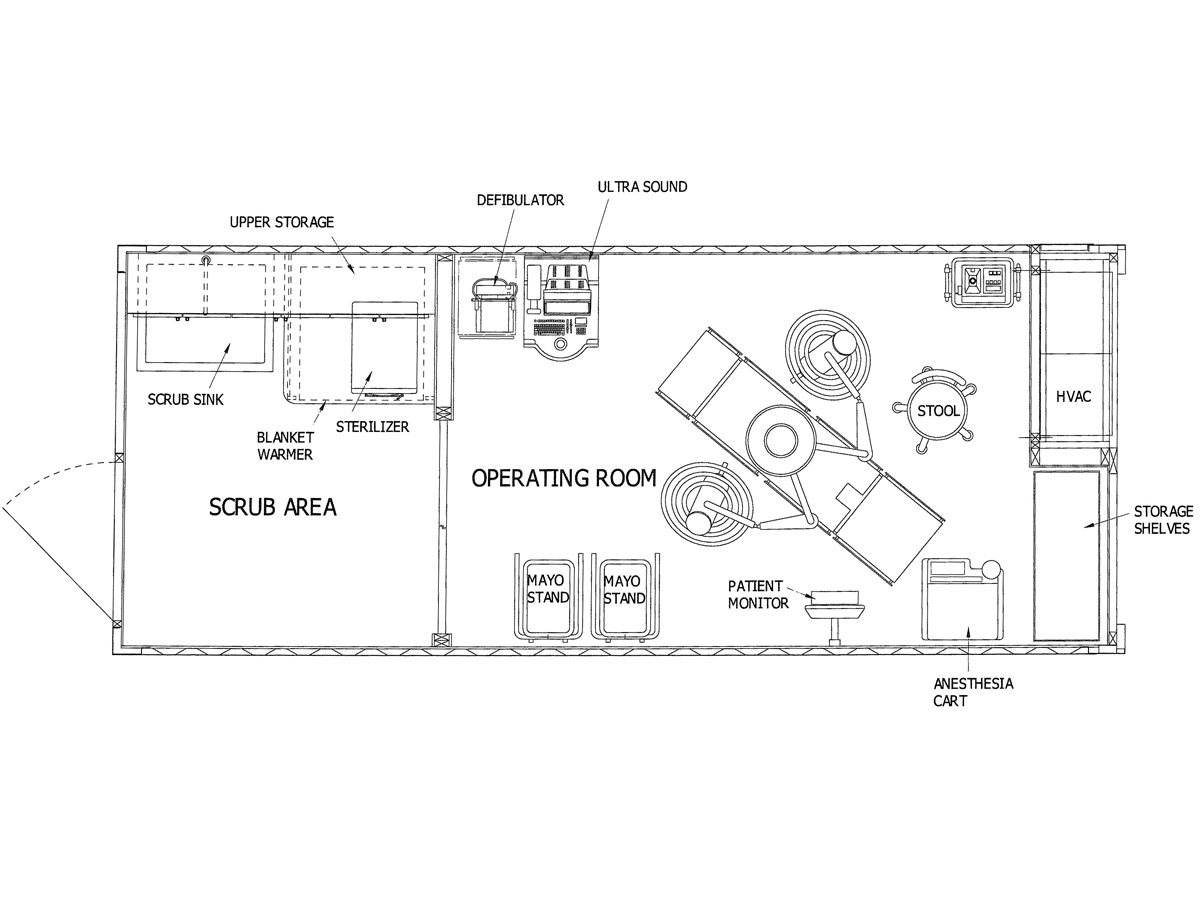 Western Shelter Container hospital Operating room plans