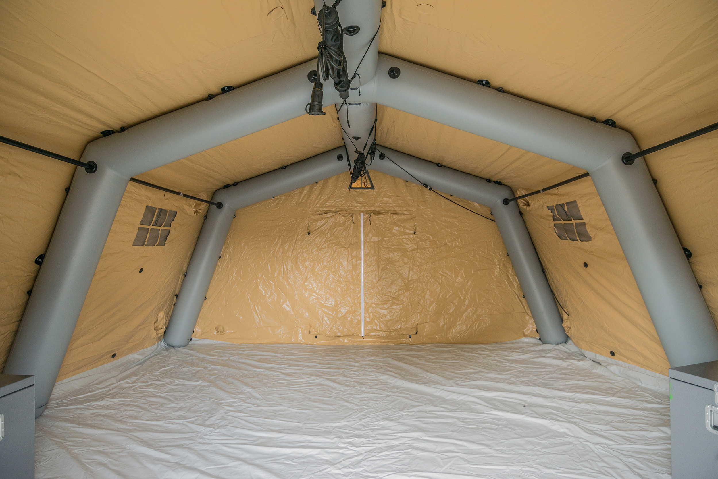 Inflatable command shelter