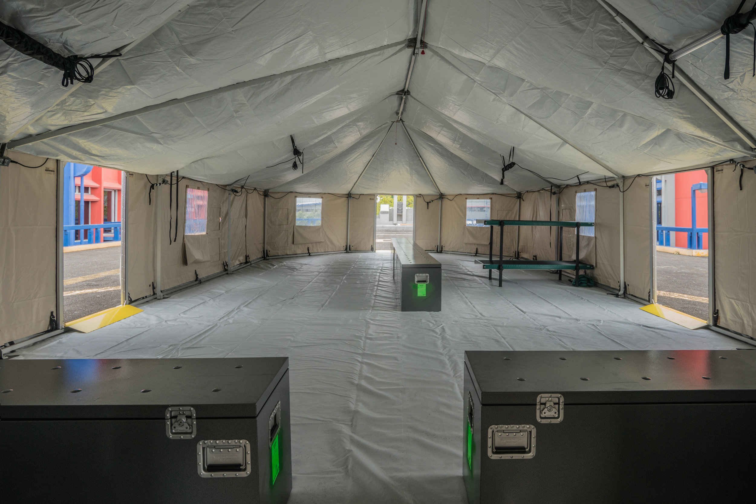Border patrol shelter interior