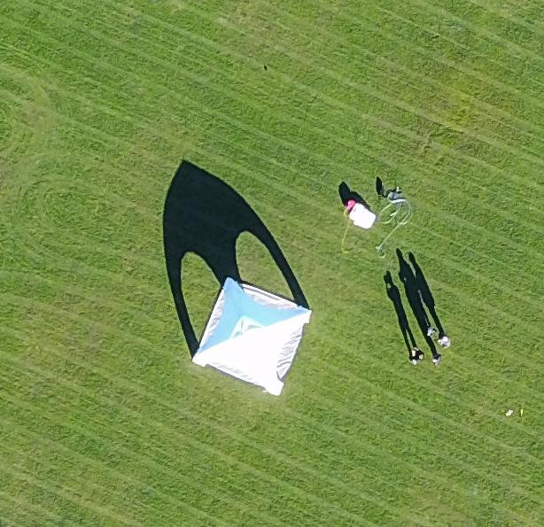 Sentry airbeam drone shot