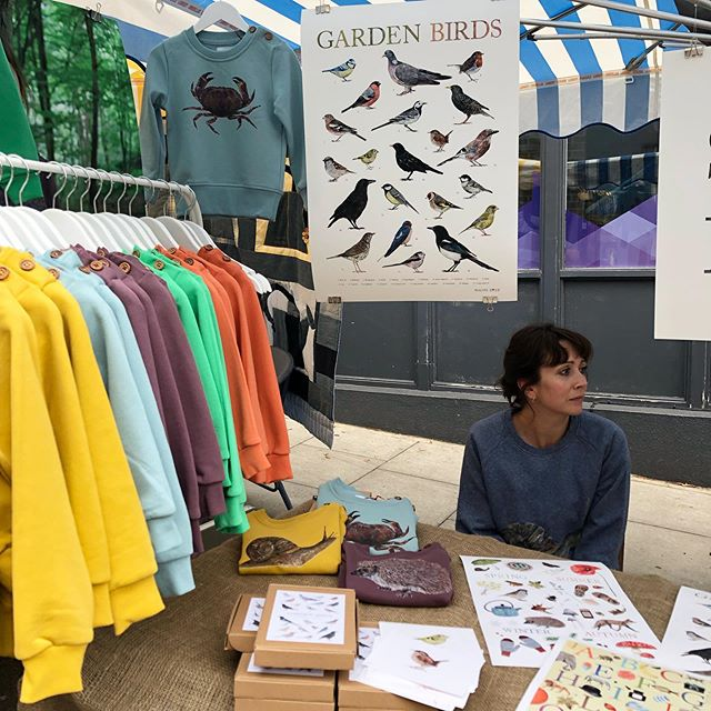 Today we're at the wonderful Hampstead Summer Festival with our goodies! If you're in NW3, come say Hi! 👋🏼 We're selling sweaters and @naomistayillustrates prints and stationery! And some reduced ex display sweats for less!!! #hampsteadsummerfair #stayandbird #organiccotton #marketstall #stationery #illustration
