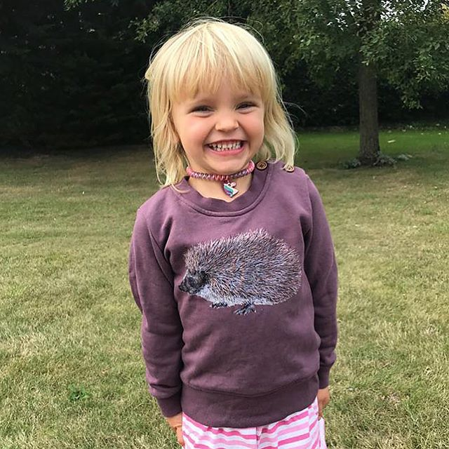💜Maisie💜in her 🦔 sweat! Thank you @hettieallison2016 for sharing these. We'll be having a HUGE sale in October - 50% discounts on all sweats from The Great Outdoors collection, while stocks last! Stay tuned! 🍄&🐞