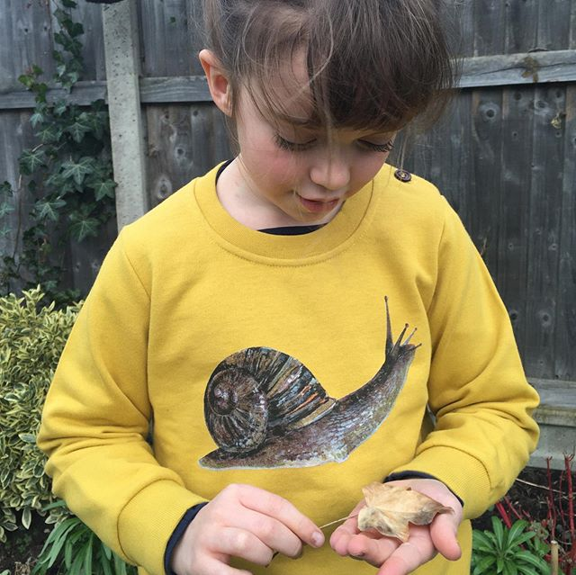 We still have a few of our 🐌 sweats left in size 5-6yr... don't forget there's 50% off until the end of the month, while stocks last! Just add AUTUMN at the checkout  #unisex #organiccotton #childrenswear #snail #stayandbird #sweatshirt
