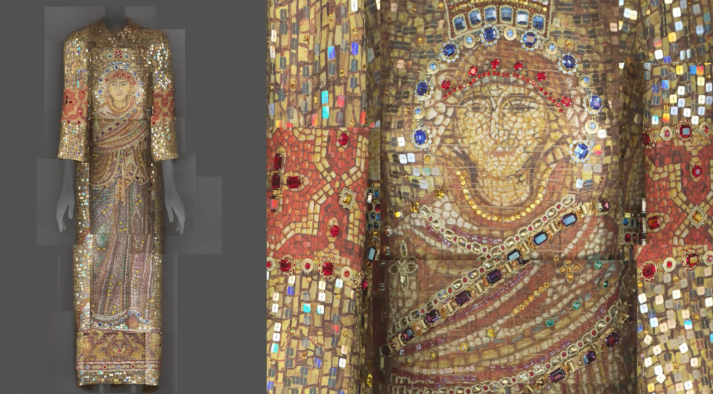 """""""The Costume Institute's spring 2018 exhibit - at the Met Fifth Avenue and The Met Cloisters - will feature a dialogue between fashion and medieval art from The Met collection to examine fashions's ongoing engagement with the devotional practices and traditions of Catholicism."""" Photo - metmuseum.org The exhibit opens May 10th.#MetHeavenlyBodies"""