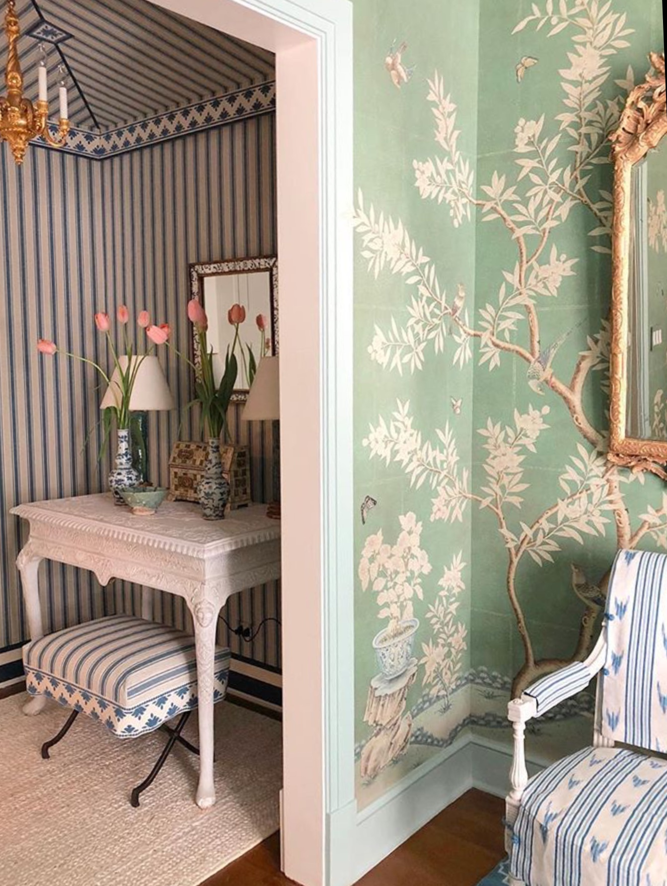 A sneak peek in to Mark D. Sikes space at the Kipps Bay Showhouse. Photo - Mark D. Sikes