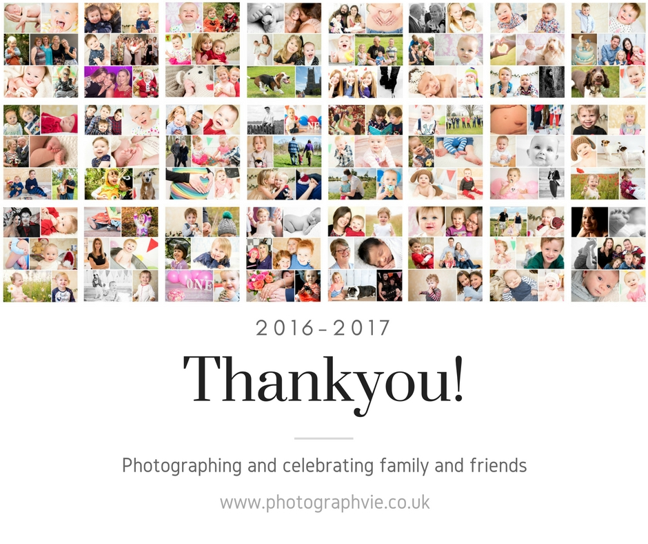 Thankyou family photography in ely, a year collage from Photographvie, Vicki Newman photographer from Ely, Cambridgeshire