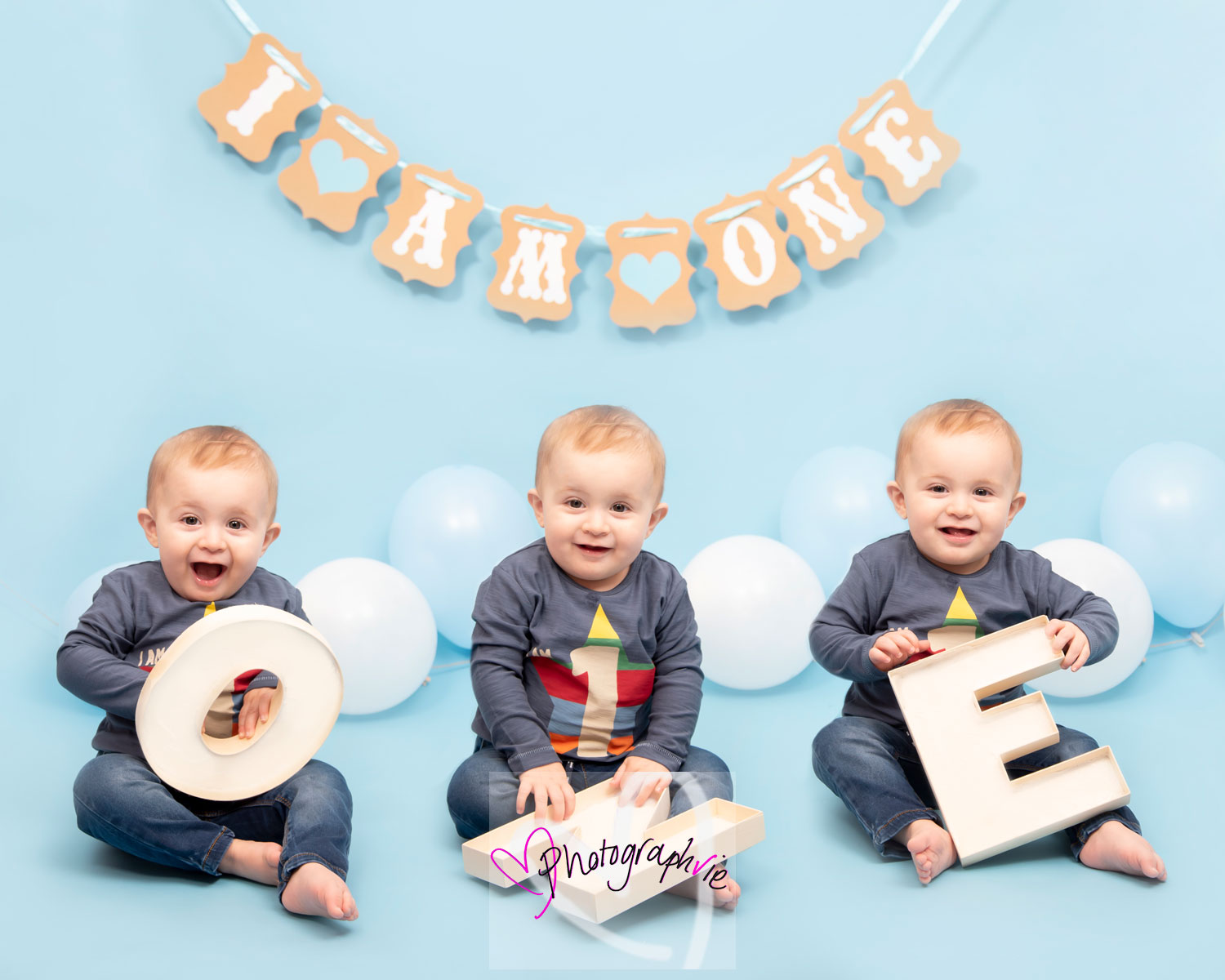 Our fun 'one' photo for first birthday memories