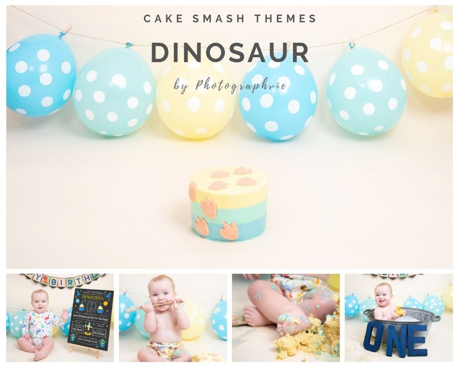 Dinosaur Cake Smash Photoshoot